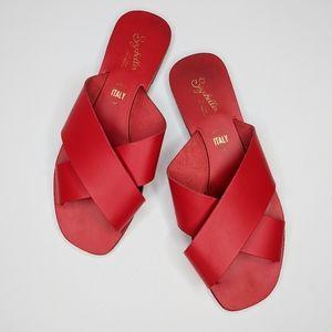 Seychelles cross leather sandals